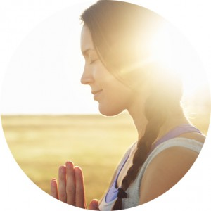 woman taking care of her spirituality