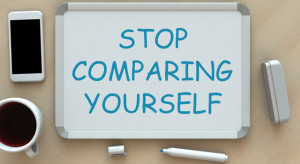 stop comparing yourself sign