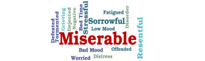 miserable word image
