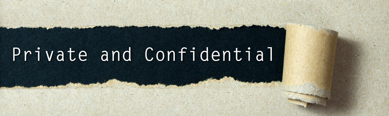 image of private and confidential