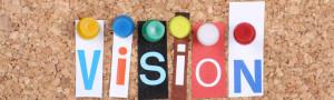image of vision on cork board