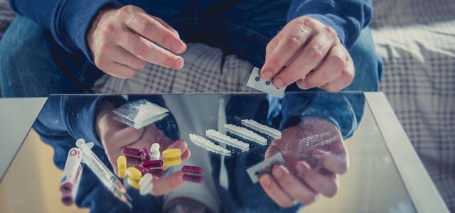 prescription pills and illegal drugs